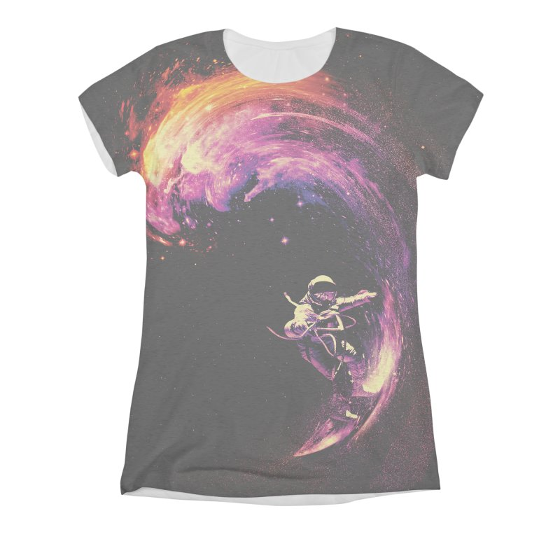 Space Surfing Women's Triblend All Over Print by nicebleed