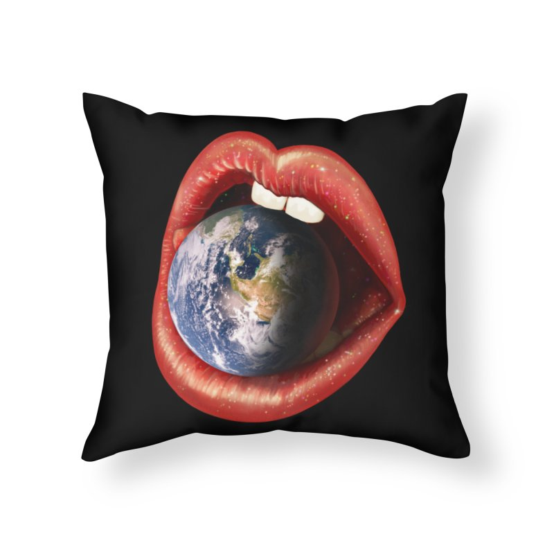 Sweet Treat - Earth Home Throw Pillow by nicebleed