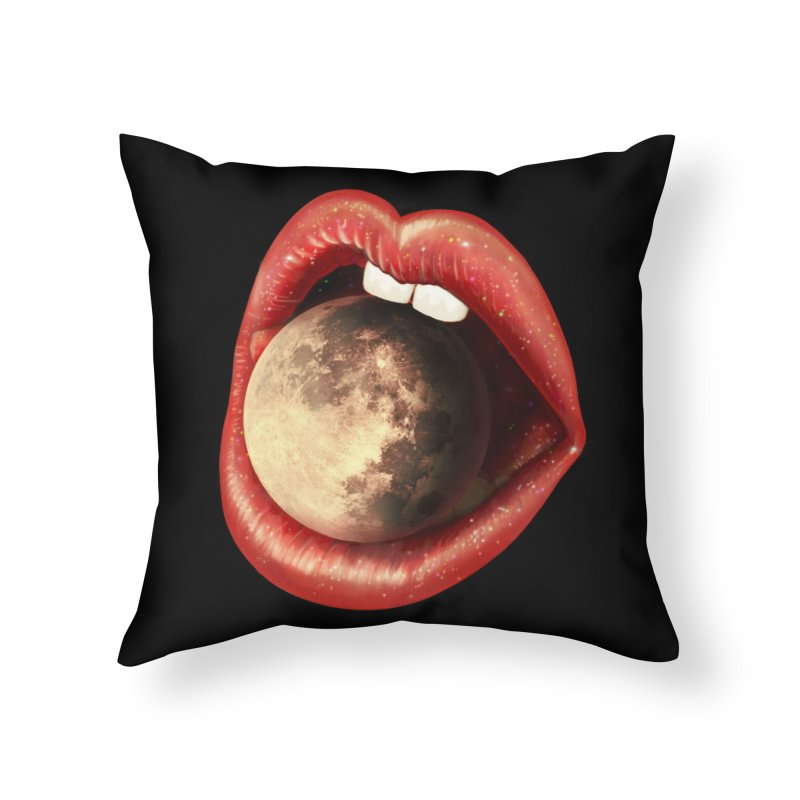 Sweet Treat - Moon Home Throw Pillow by nicebleed