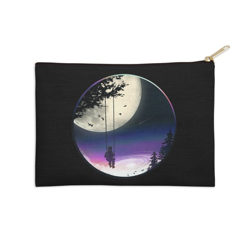 Moon Gazer Accessories Zip Pouch by nicebleed
