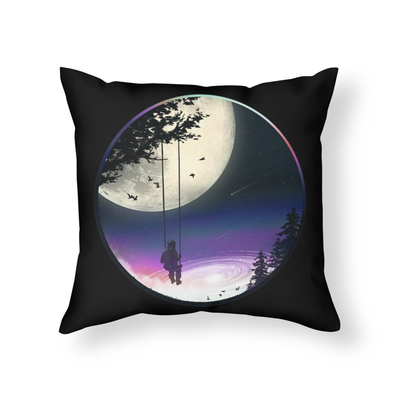 Moon Gazer Home Throw Pillow by nicebleed