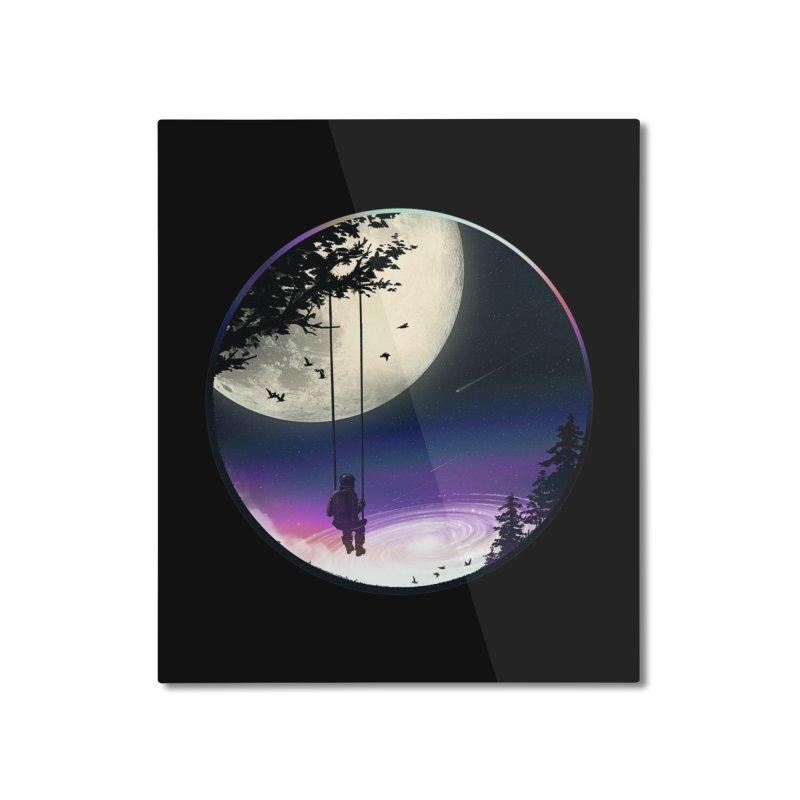 Moon Gazer Home Mounted Aluminum Print by nicebleed