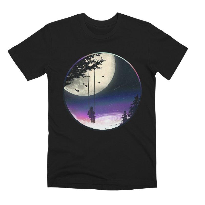 Moon Gazer Men's Premium T-Shirt by nicebleed