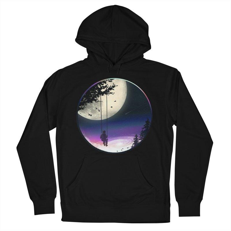 Moon Gazer Men's French Terry Pullover Hoody by nicebleed