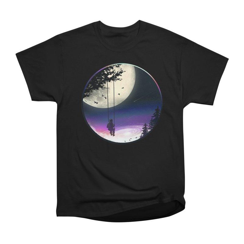 Moon Gazer Women's Heavyweight Unisex T-Shirt by nicebleed