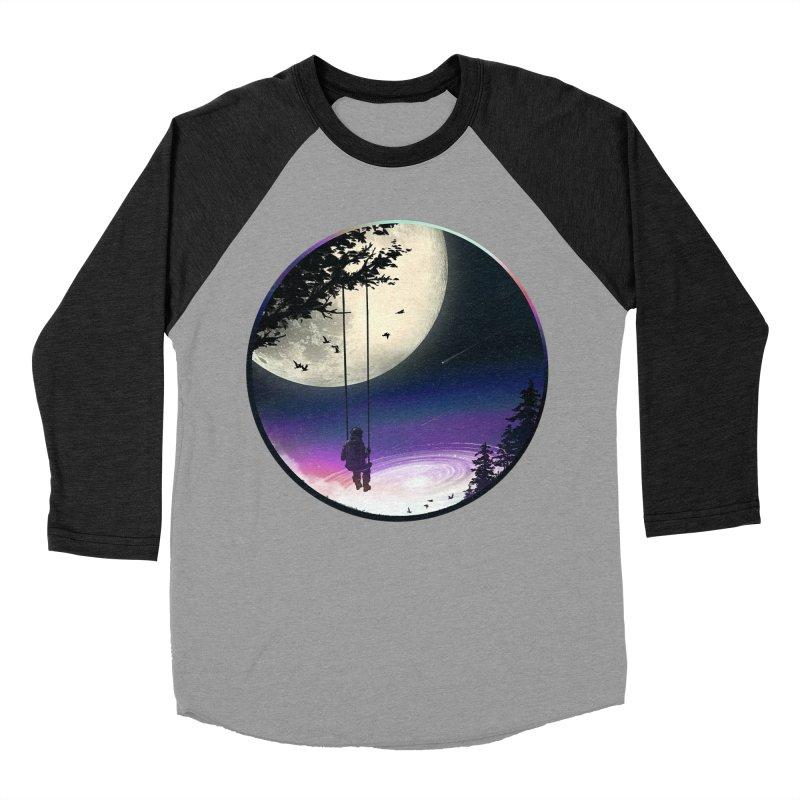 Moon Gazer Men's Baseball Triblend Longsleeve T-Shirt by nicebleed