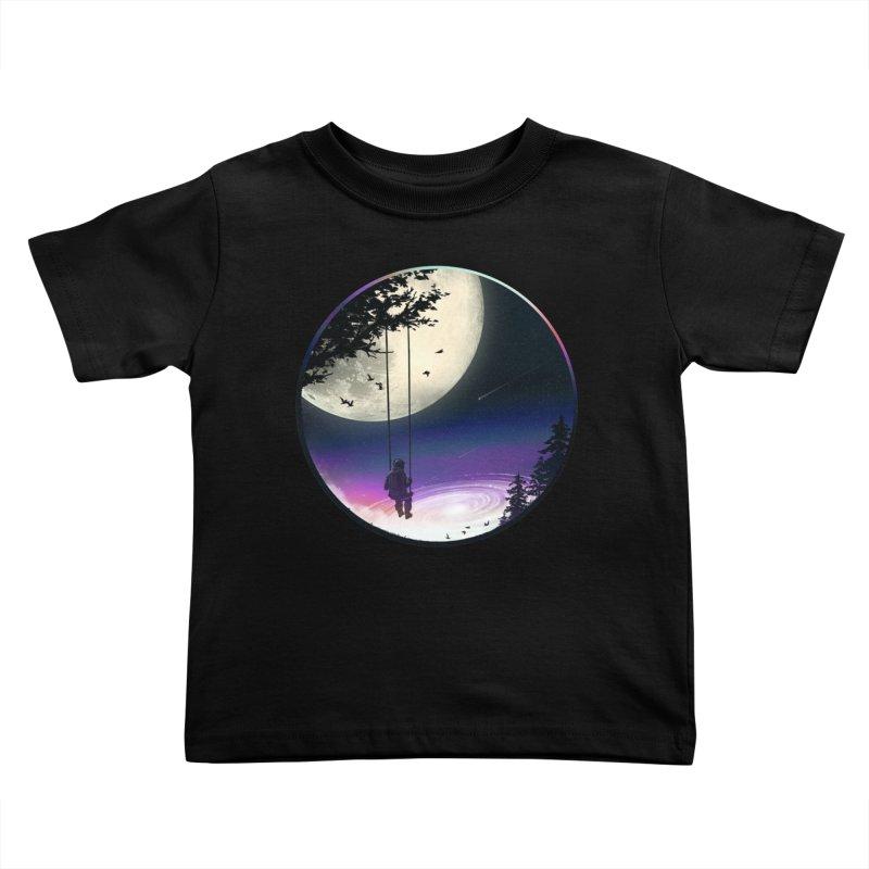 Moon Gazer Kids Toddler T-Shirt by nicebleed