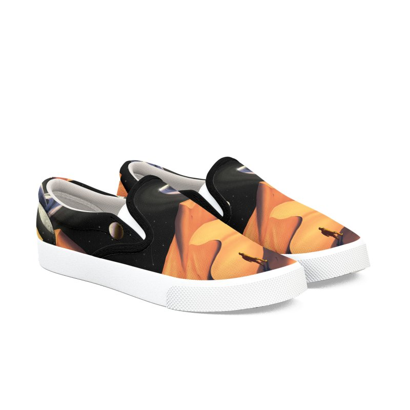 The Wanderer Women's Slip-On Shoes by nicebleed