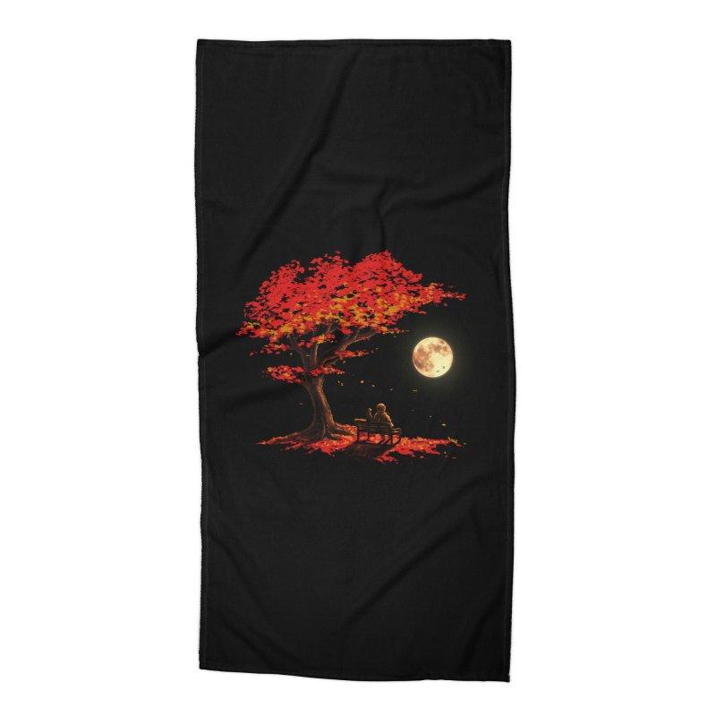 Autumn Moon Accessories Beach Towel by nicebleed