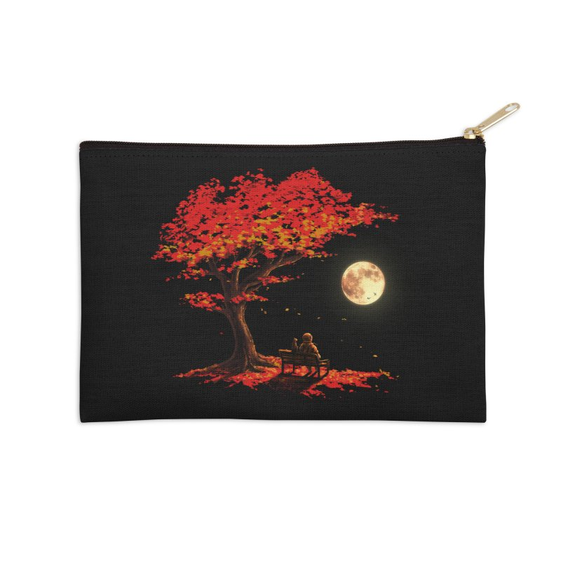 Autumn Moon Accessories Zip Pouch by nicebleed