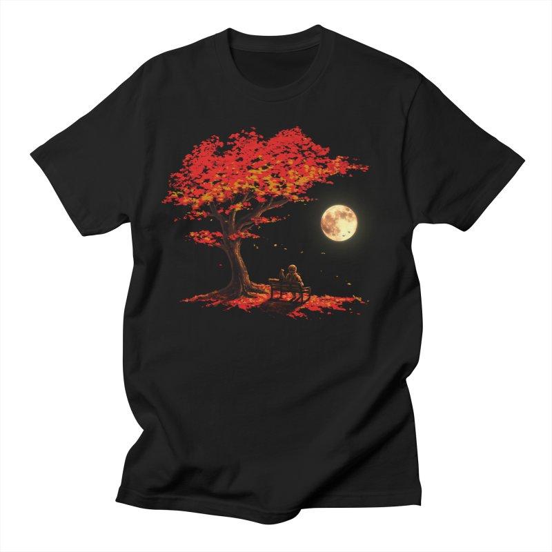 Autumn Moon Men's T-Shirt by nicebleed
