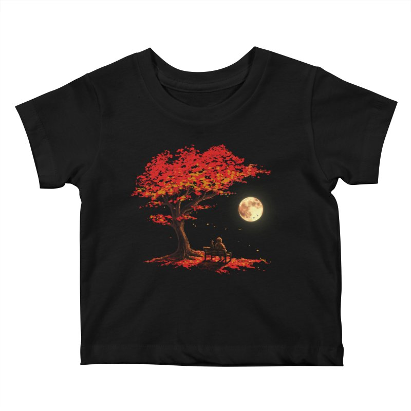 Autumn Moon Kids Baby T-Shirt by nicebleed
