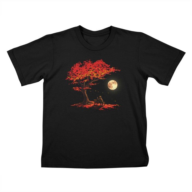 Autumn Moon Kids T-Shirt by nicebleed