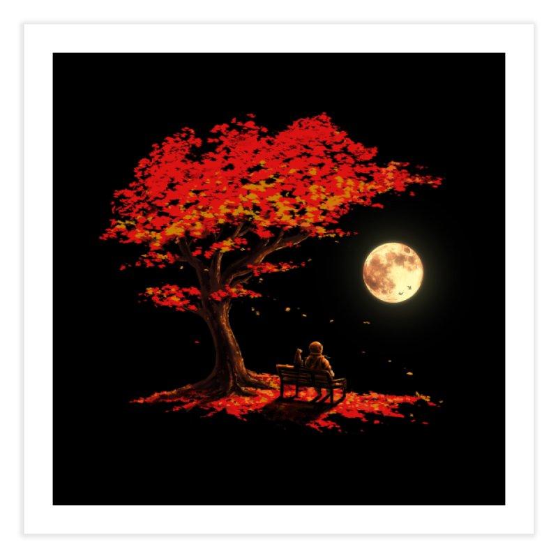 Autumn Moon Home Fine Art Print by nicebleed
