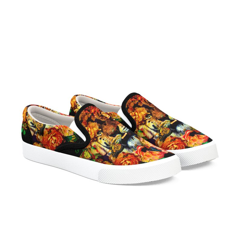 Wild Flowers Women's Slip-On Shoes by nicebleed