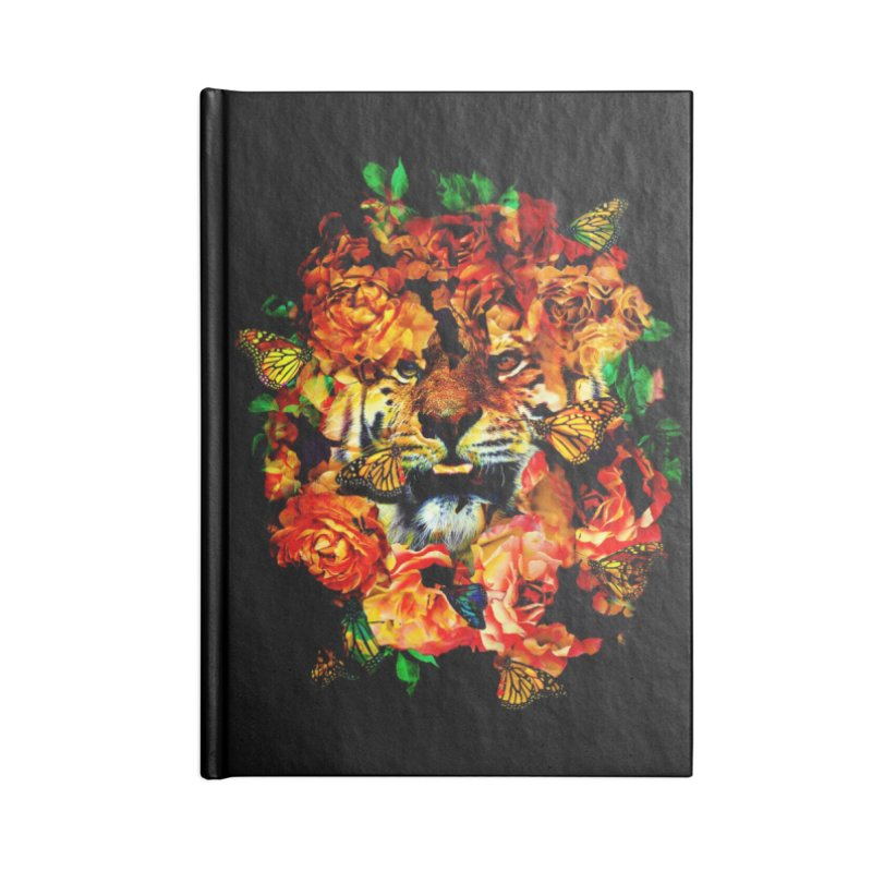 Wild Flowers Accessories Lined Journal Notebook by nicebleed