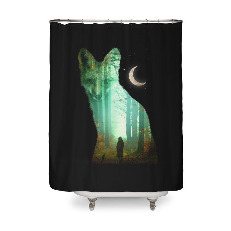 Guardian Fox Home Shower Curtain by nicebleed
