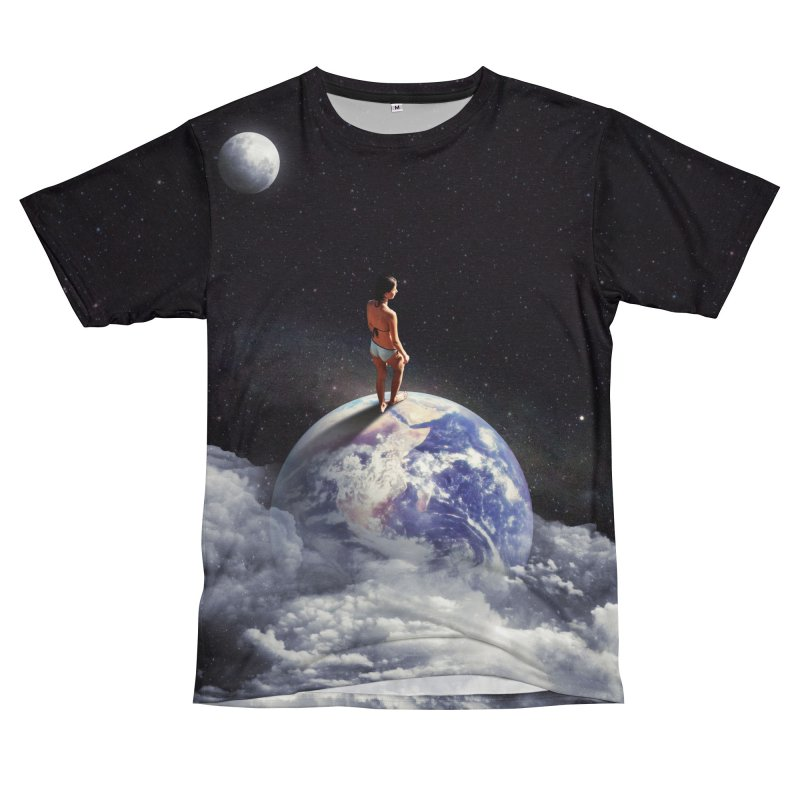 Space Escape Men's T-Shirt Cut & Sew by nicebleed