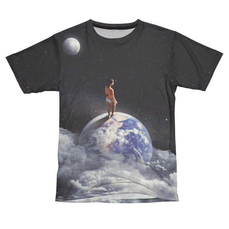 Space Escape Women's Unisex French Terry T-Shirt Cut & Sew by nicebleed