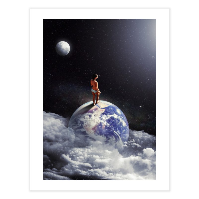 Space Escape Home Fine Art Print by nicebleed