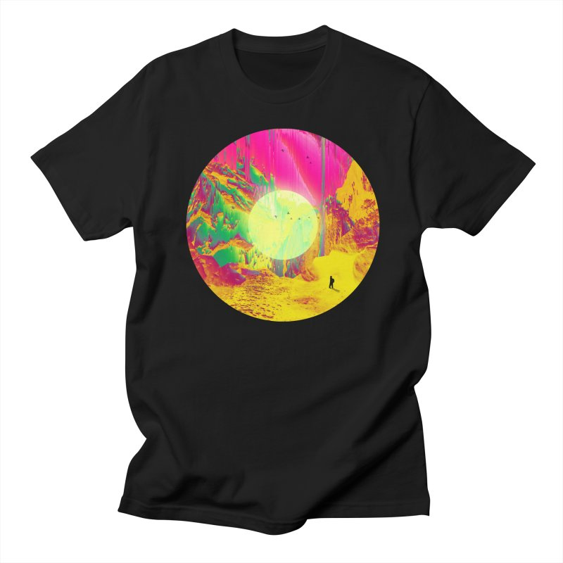 Glitchy Trail in Men's Regular T-Shirt Black by nicebleed