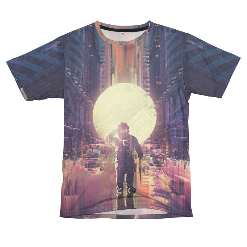 Lost In The City Women's Unisex French Terry T-Shirt Cut & Sew by nicebleed