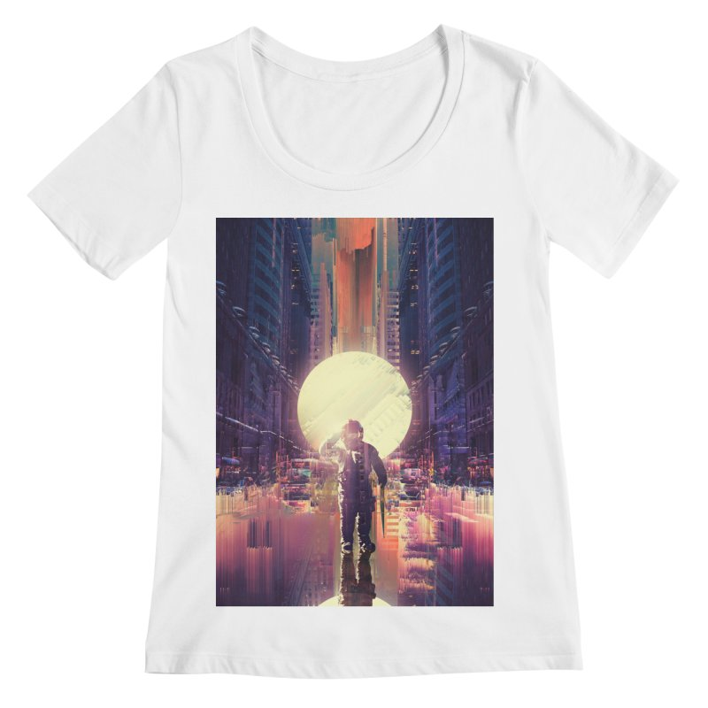 Lost In The City Women's Regular Scoop Neck by nicebleed