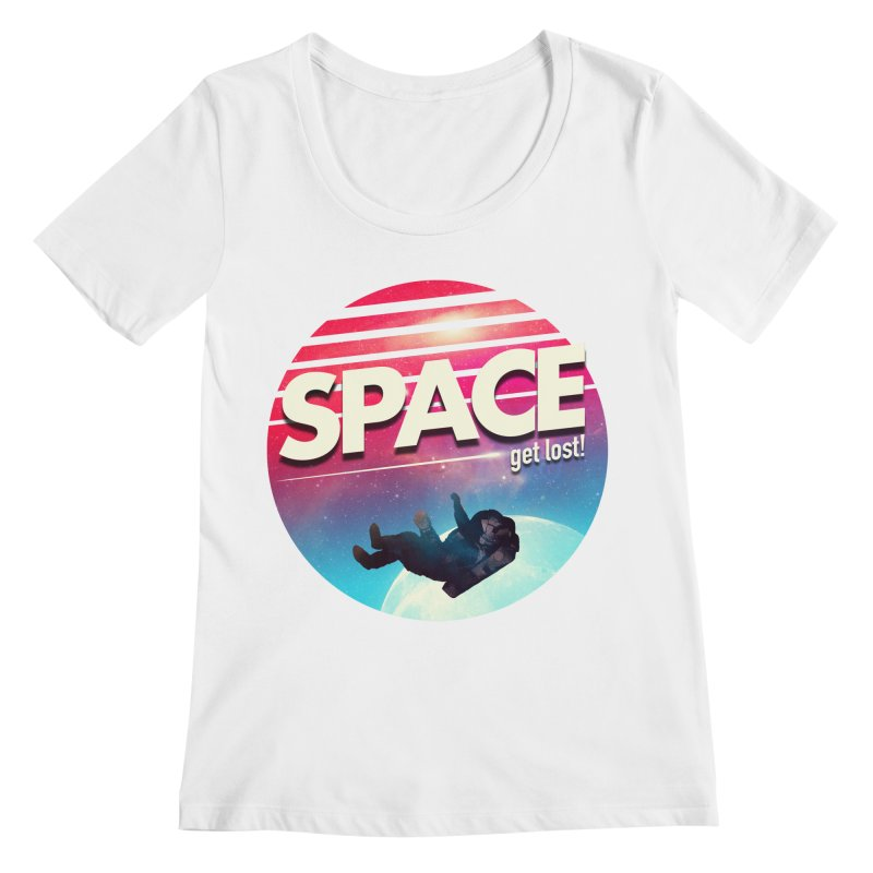 Get Lost in Space Women's Regular Scoop Neck by nicebleed