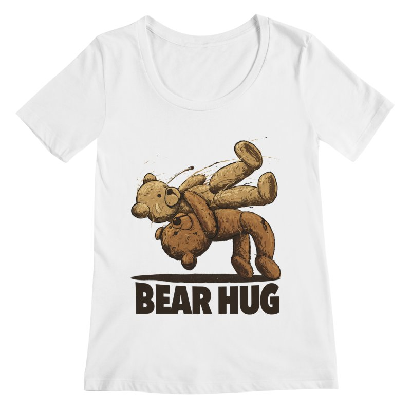 Bear Hug Women's Regular Scoop Neck by nicebleed