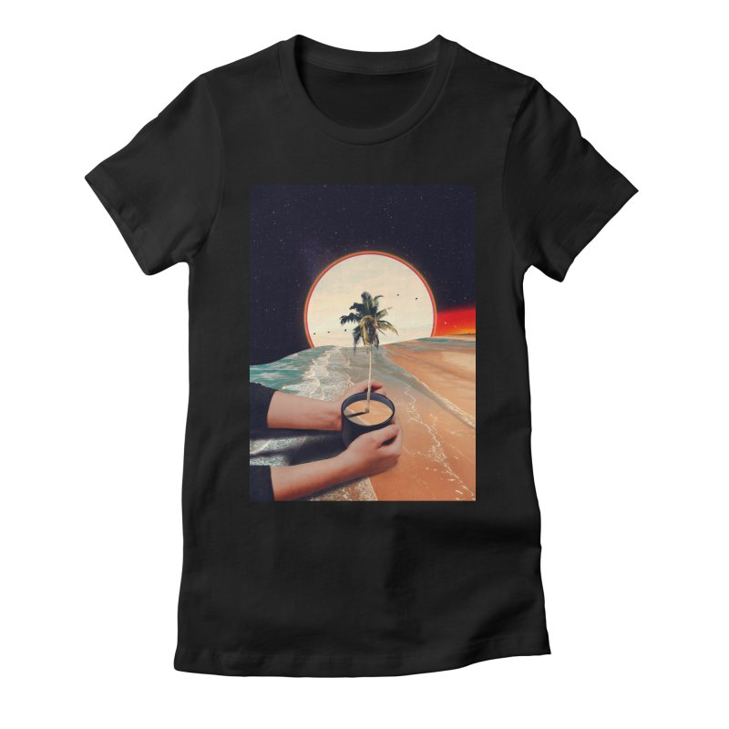 A Cup Of Sunshine Women's Fitted T-Shirt by nicebleed