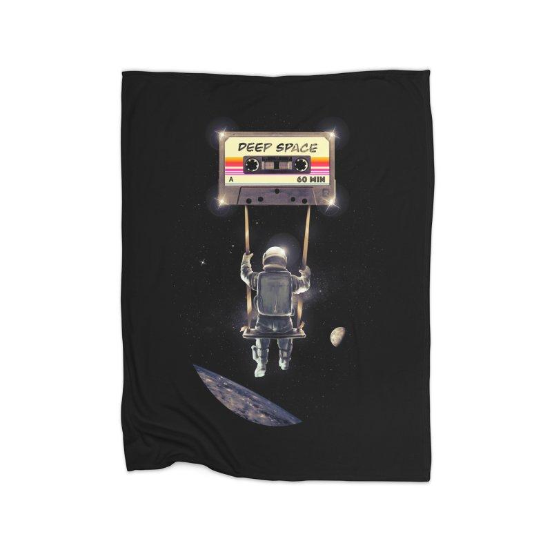 Deep Space Mix Tape Home Fleece Blanket Blanket by nicebleed