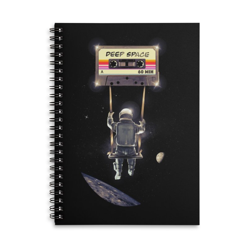 Deep Space Mix Tape Accessories Lined Spiral Notebook by nicebleed