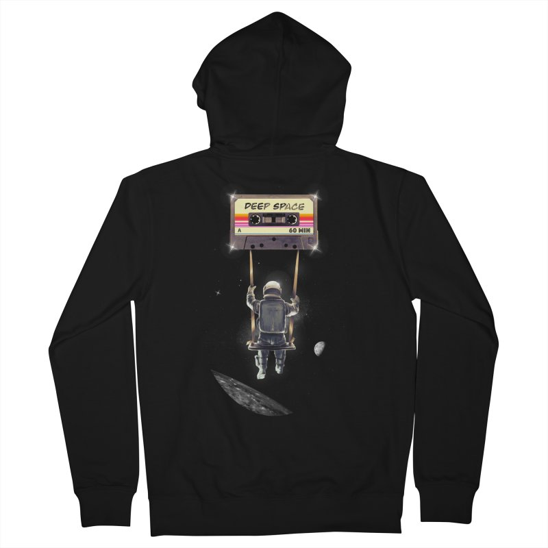 Deep Space Mix Tape Men's French Terry Zip-Up Hoody by nicebleed