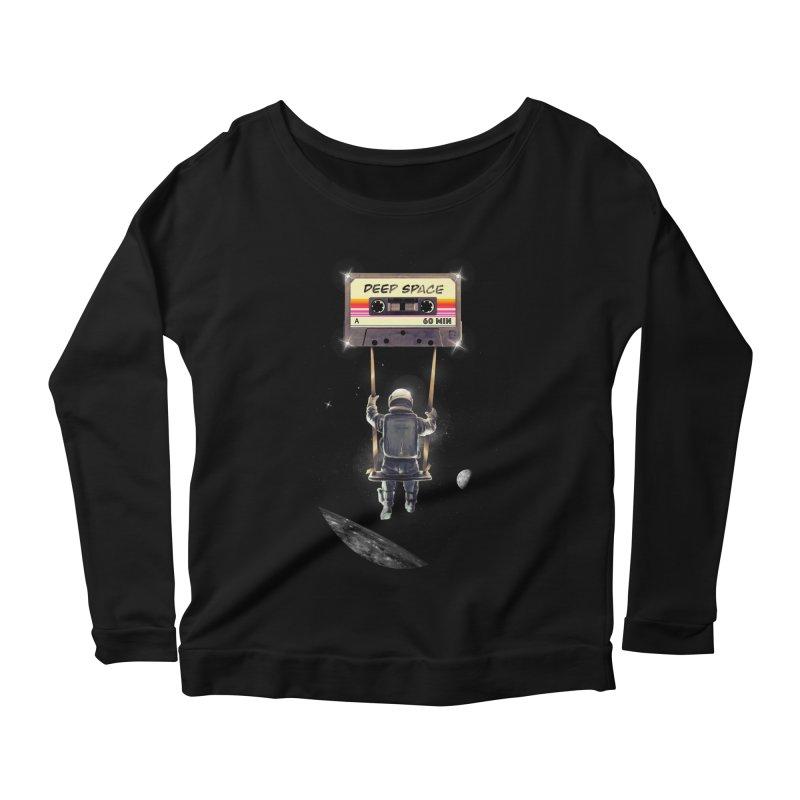 Deep Space Mix Tape Women's Scoop Neck Longsleeve T-Shirt by nicebleed