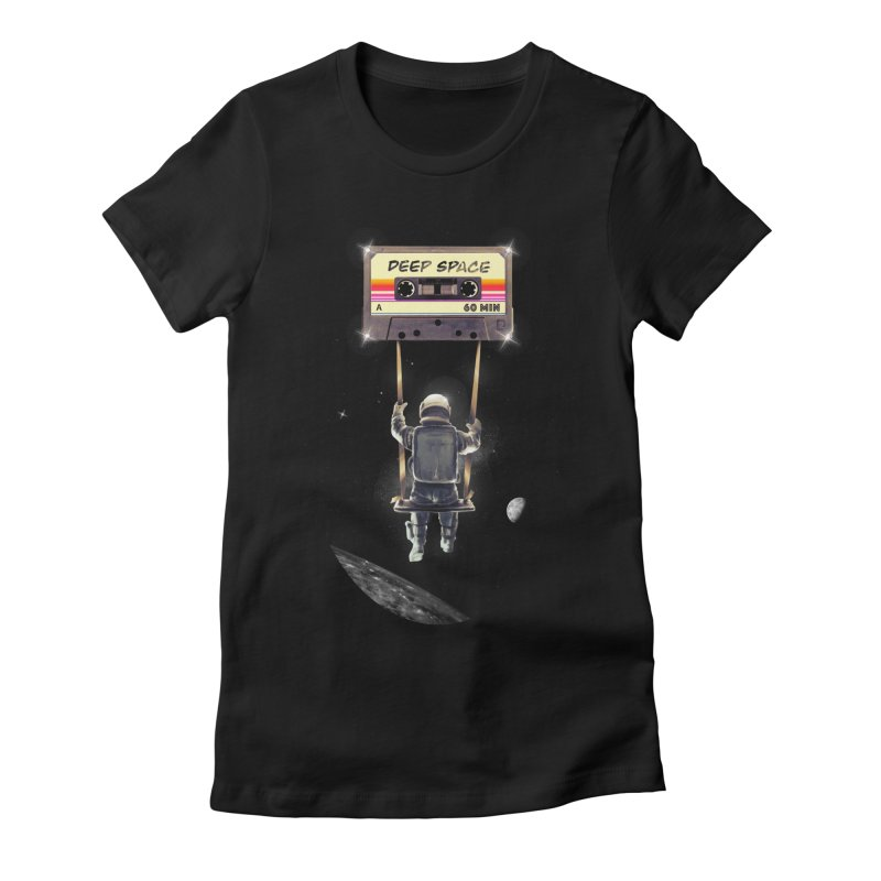 Deep Space Mix Tape Women's Fitted T-Shirt by nicebleed