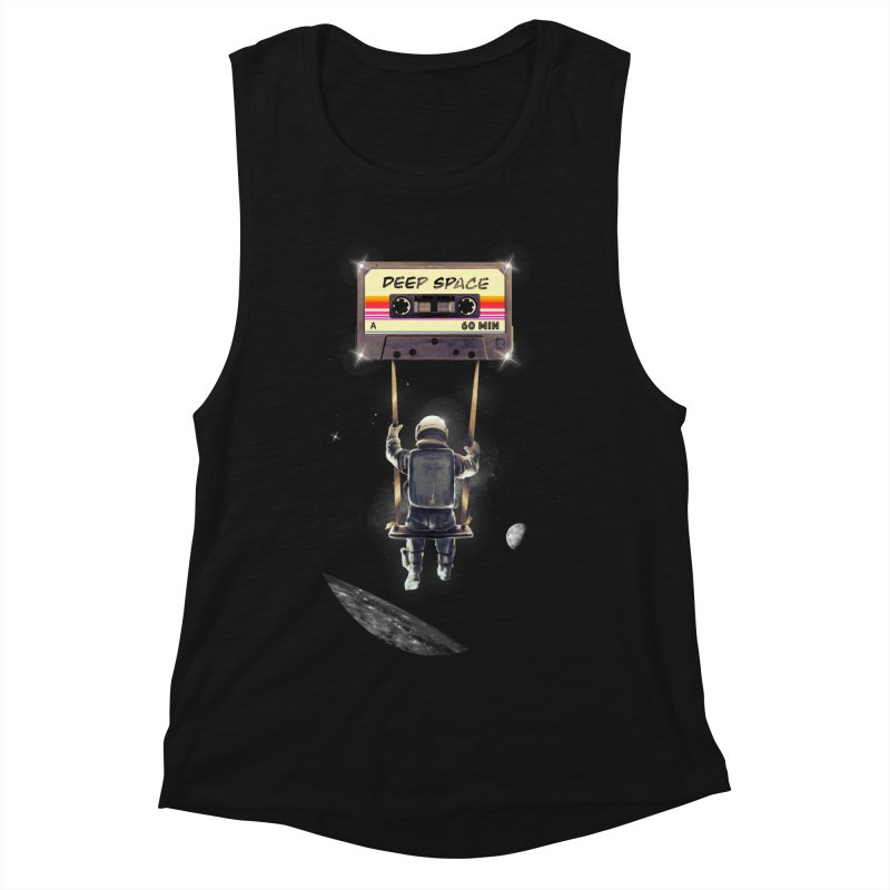Deep Space Mix Tape Women's Muscle Tank by nicebleed