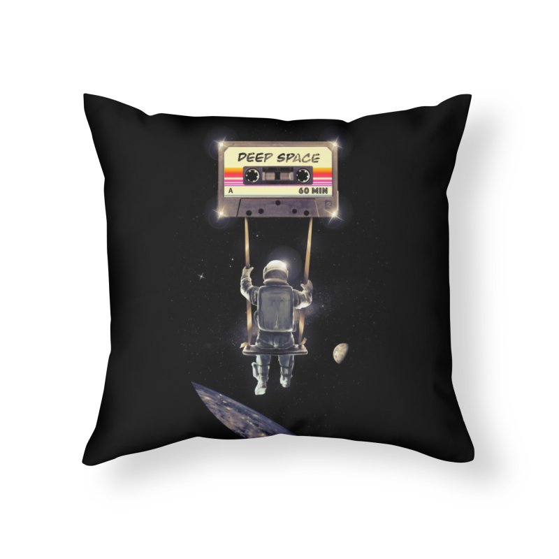 Deep Space Mix Tape Home Throw Pillow by nicebleed