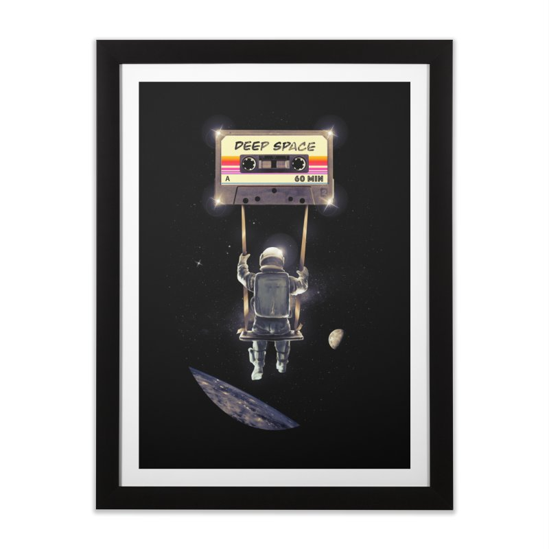 Deep Space Mix Tape Home Framed Fine Art Print by nicebleed