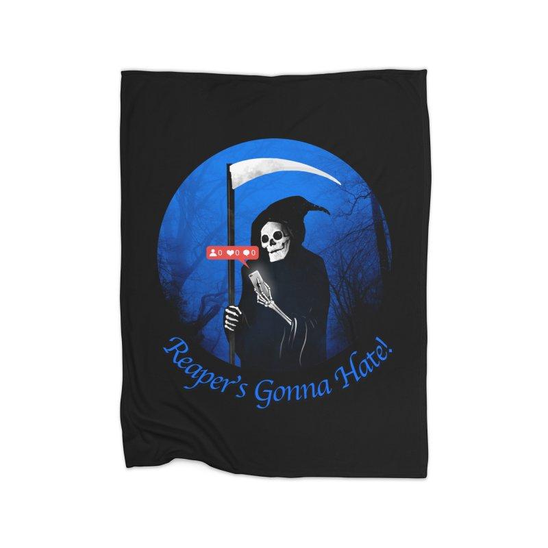Reaper's Gonna Hate! Home Fleece Blanket Blanket by nicebleed