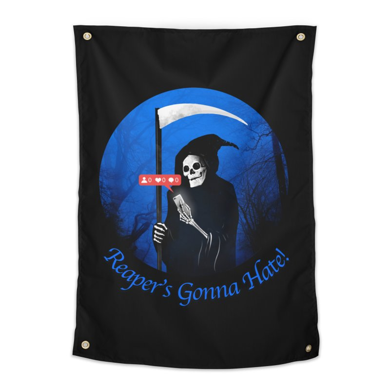 Reaper's Gonna Hate! Home Tapestry by nicebleed