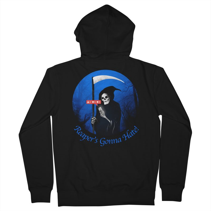 Reaper's Gonna Hate! Men's French Terry Zip-Up Hoody by nicebleed