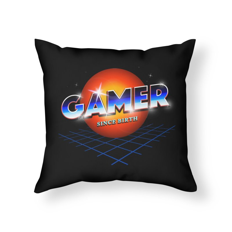 Gamer Home Throw Pillow by nicebleed