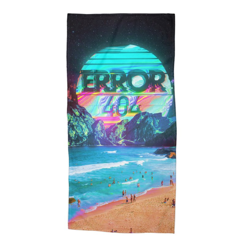 Error 404 Accessories Beach Towel by nicebleed