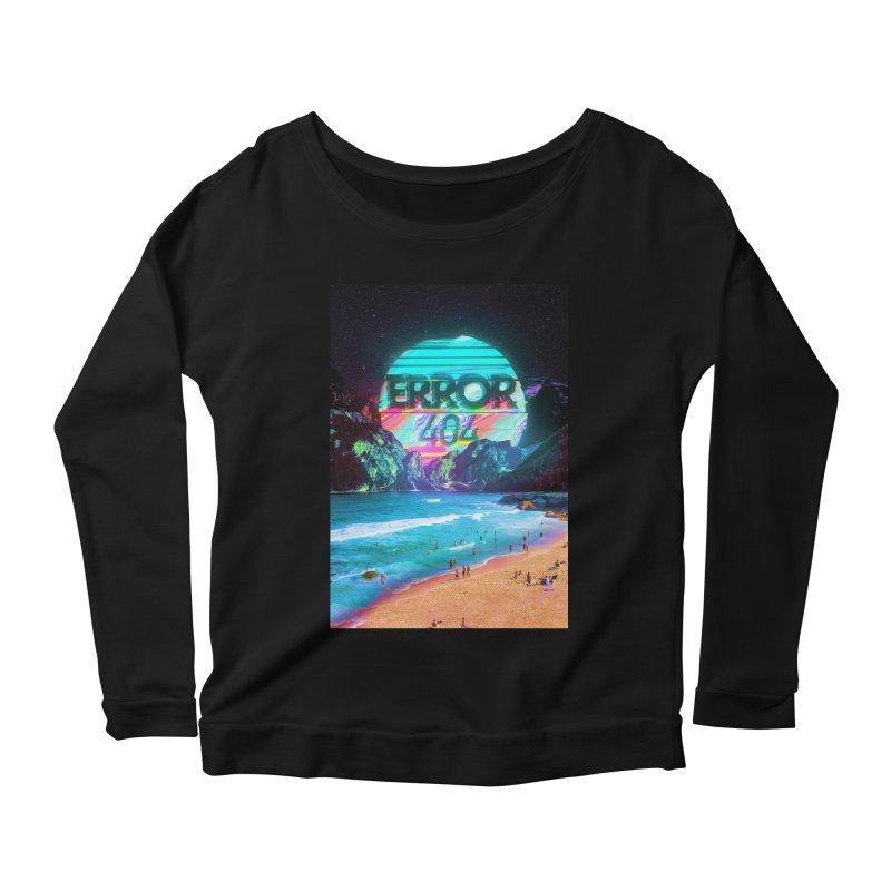 Error 404 Women's Scoop Neck Longsleeve T-Shirt by nicebleed