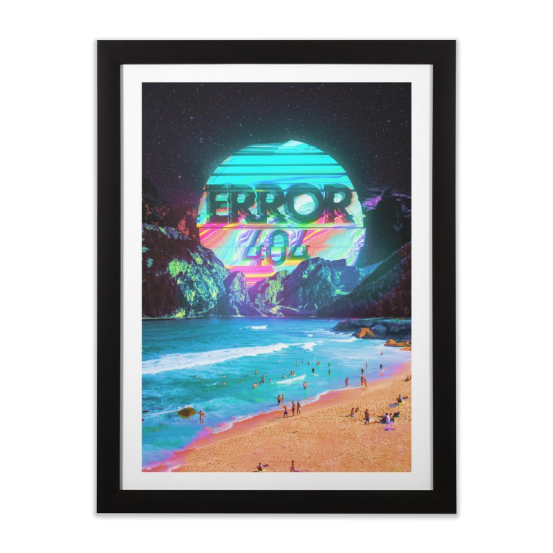 Error 404 Home Framed Fine Art Print by nicebleed