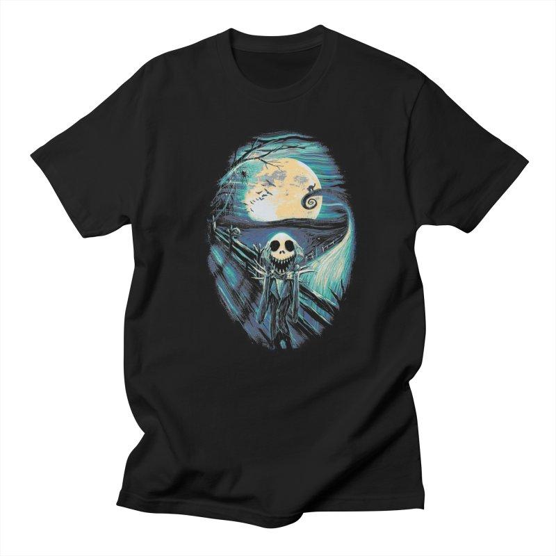 The Scream Before Christmas in Men's Regular T-Shirt Black by nicebleed