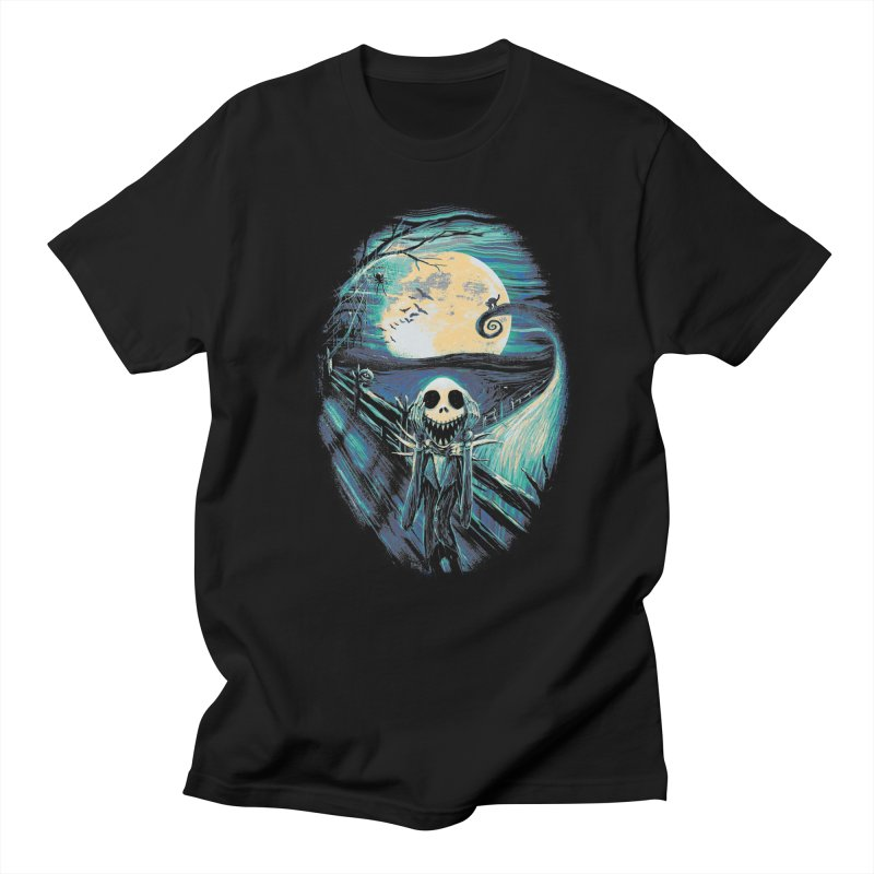 The Scream Before Christmas in Men's Regular T-Shirt Black by nicebleed