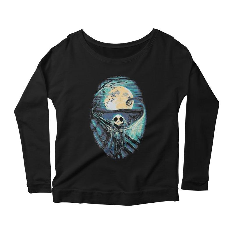 The Scream Before Christmas Women's Scoop Neck Longsleeve T-Shirt by nicebleed