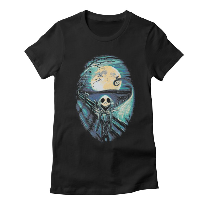 The Scream Before Christmas Women's Fitted T-Shirt by nicebleed