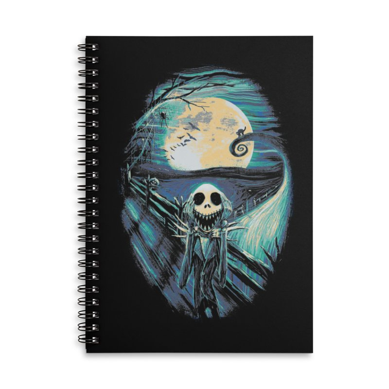 The Scream Before Christmas Accessories Lined Spiral Notebook by nicebleed